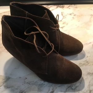 j crew suede ankle boot